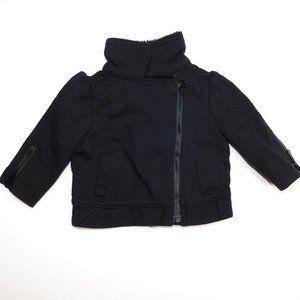 Girls 3-6 month Black Moto Jacket Fur accents